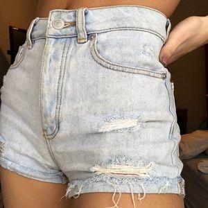 Brandy Melville light blue denim shorts